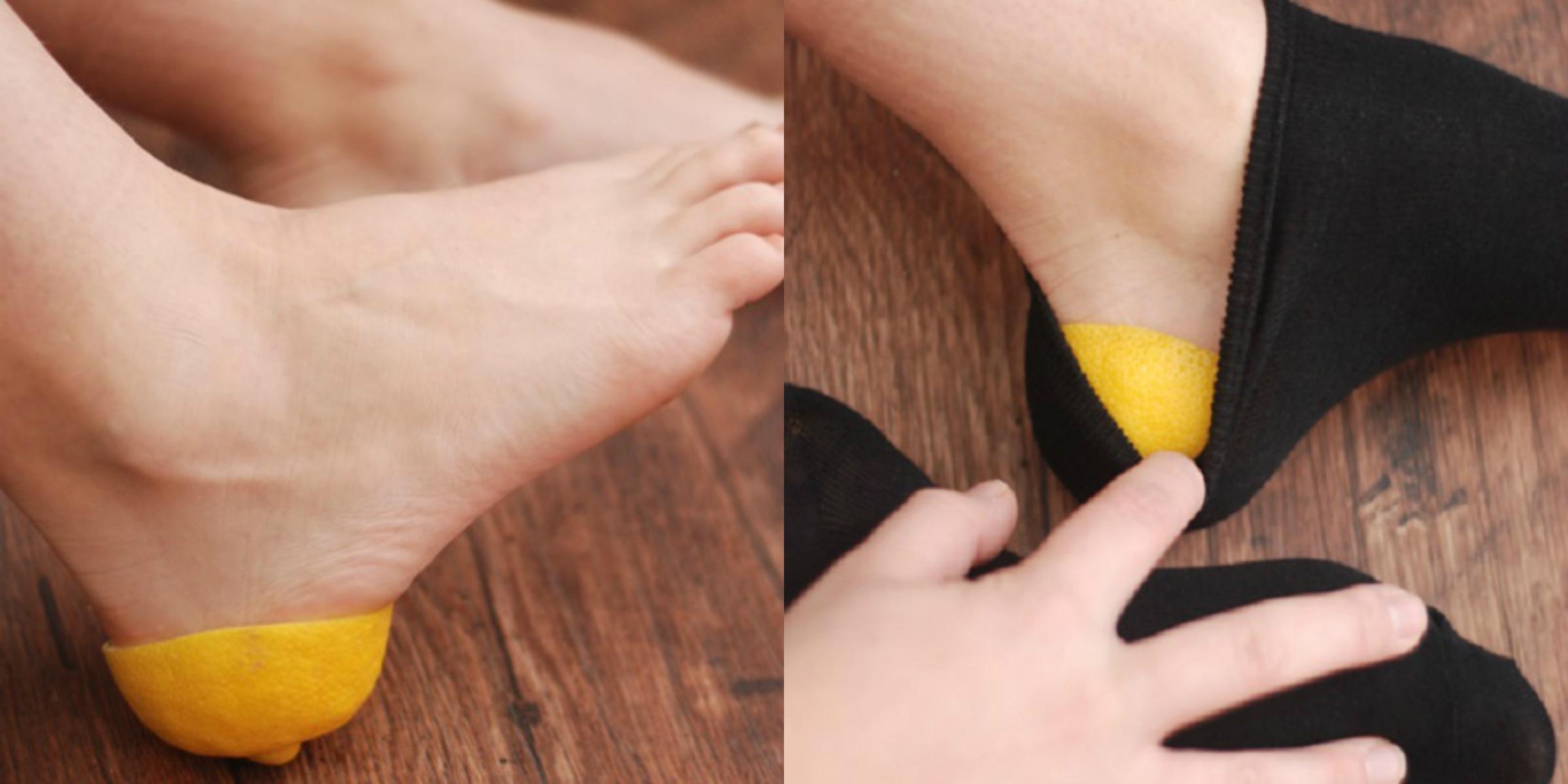 Aprender este truco, ¡nunca más te irás a la cama sin una cáscara de limón en los pies!