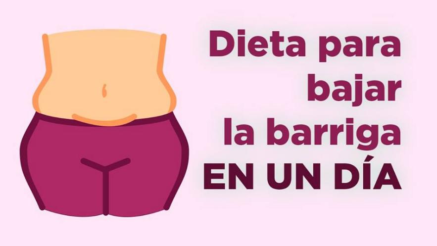 Dieta de emergencia: Baja la barriga en una sola noche